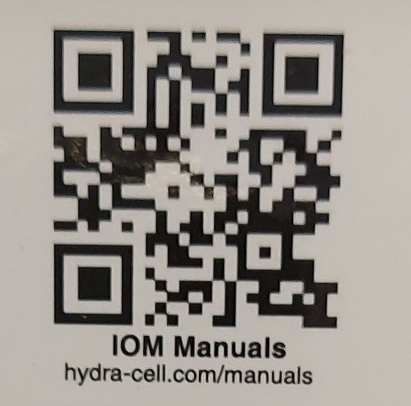 Manual Wanner Hydra-Cell membraanpompen